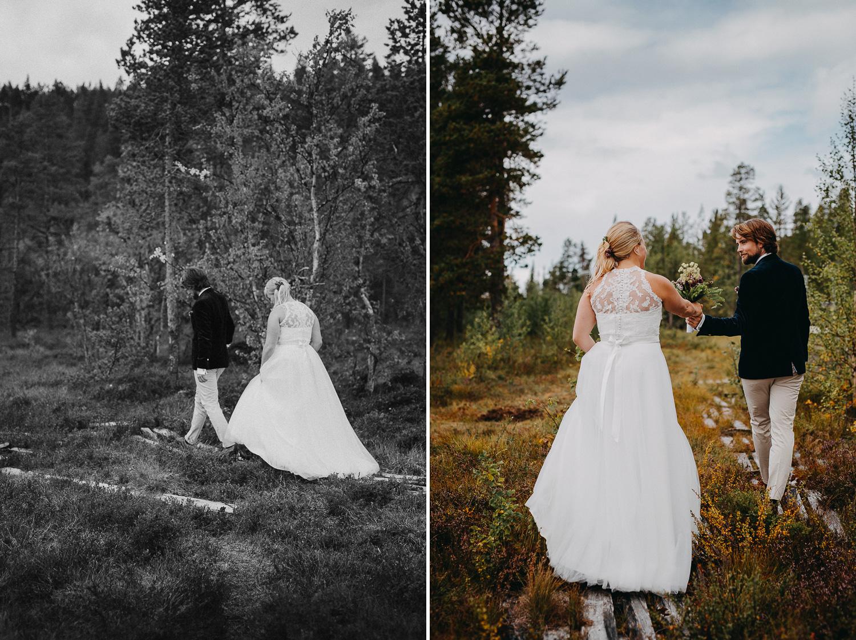 Höstbröllop Tännaskröket Bröllopsfotograf Yohanna Mårtensson