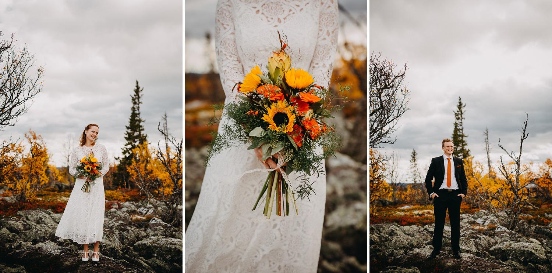 Höstbröllop Storhogna, Klövsjö Kyrka, Fotograf Yohanna Mårtensson, Fotograf Härjedalen Jämtland