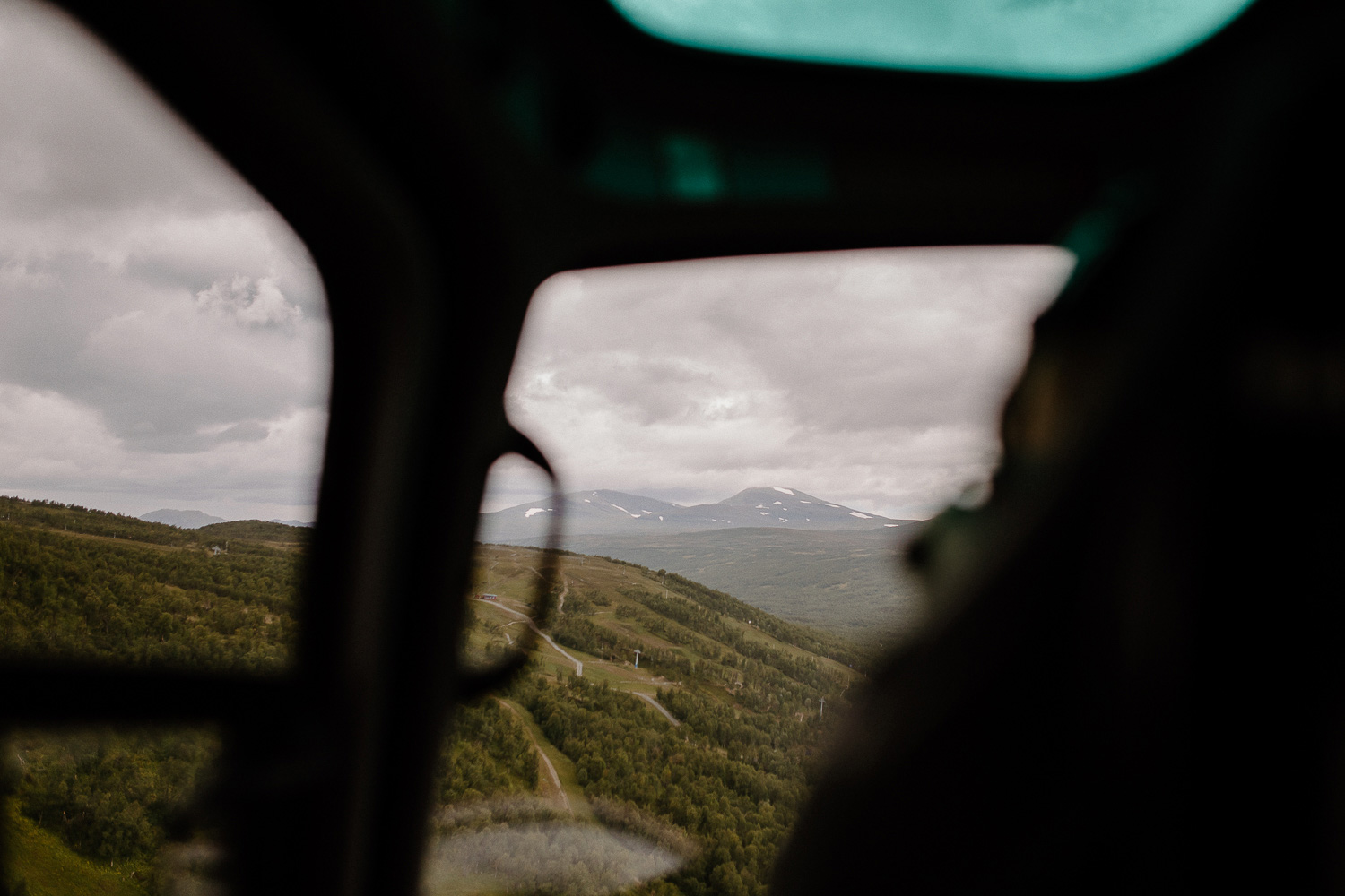 Utsikt från Helikopter, Skarsfjället Härjedalen